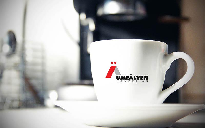 طراحی نشان شرکت بازرگانی umealven
