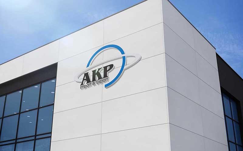 طراحی نشان شرکت بازرگانی AKP