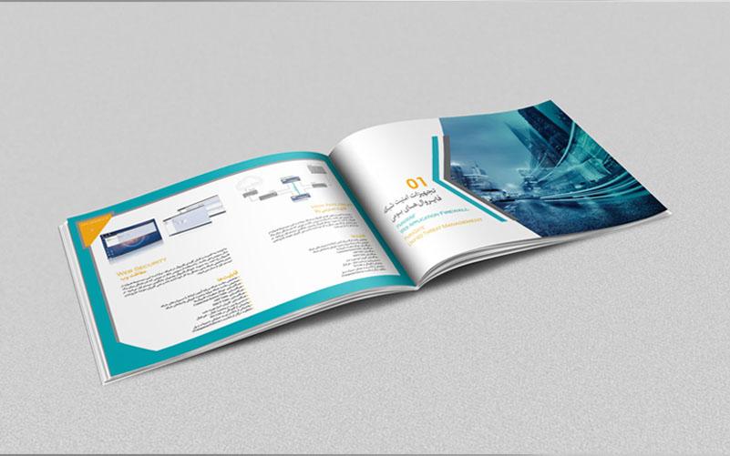 طراحی کاتالوگ شرکت امن افزار