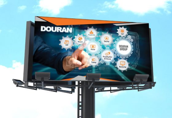 طراحی تبلیغات محیطی شرکت دوران